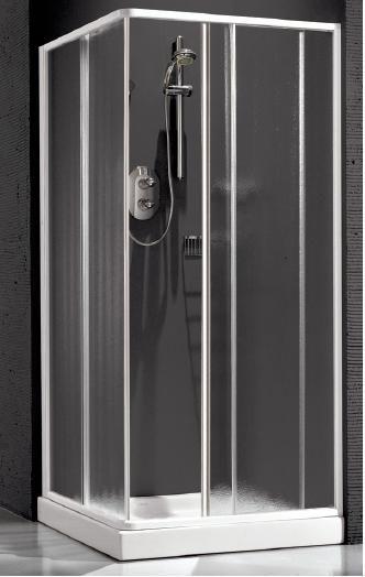 Душевая шторка Relax New Hadis-A 0137230100 DX 90*90 см правая, стекло прозрачное