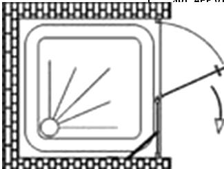 Душевая дверь одностворчатая Vegas Glass AFP 0100, с неподвижным сегментом