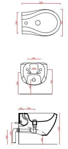 Биде ArtCeram Blend подвесное BLB001 01;00
