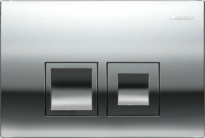 Клавиша Geberit Delta 50 115.135.21.1, глянцевый хром, пластик, 246*164 мм