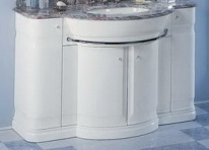 Комплект мебели Eurodesign Hilton New Т0021861 Композиция №1, Bianco/фурнитура хром/без мрамора