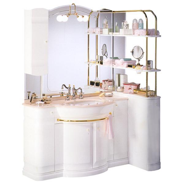 Комплект мебели Eurodesign Hilton New Т0021863 Композиция №2, Bianco/фурнитура золото/без мрамора