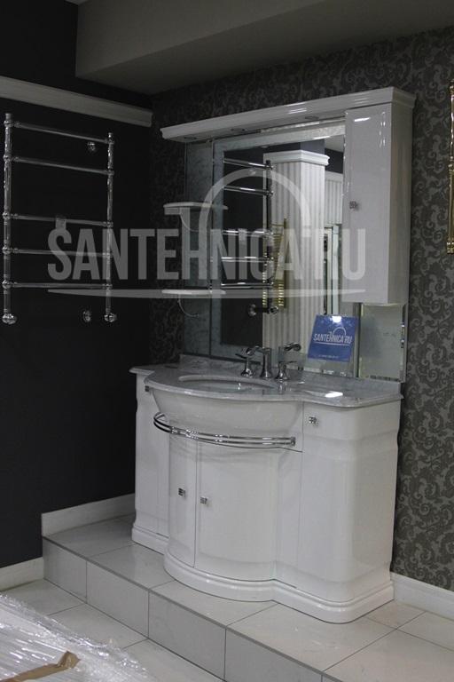 Комплект мебели Eurodesign Luxory Т0013613 Композиция №12, Bianco Lucido/фурнитура ORO