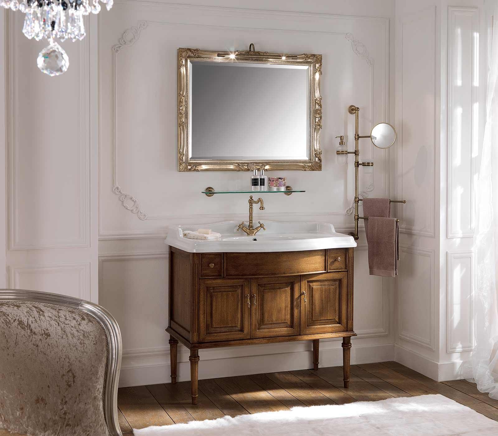 Комплект мебели Labor Legno MILADY Composizione MIL 103, орех/бронза, 105 см
