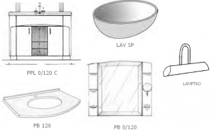 Комплект мебели для ванной комнаты Labor Legno COMPOSIZIONE PARIS 120 арт. PPL0/120+PB120+LAV SP+P0/120, белый лак/хром