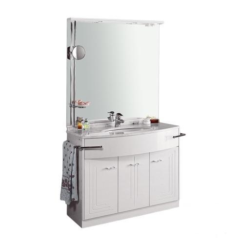 Комплект мебели Labor Legno PARIS 90, белый лак/хром