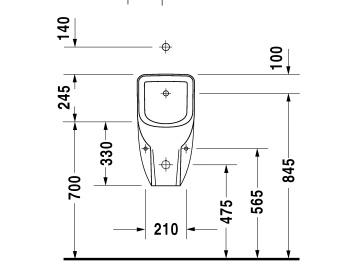 Писсуар Duravit D-Code 0828300000, с внешним подключением