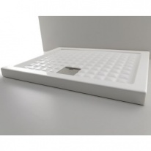 Поддон душевой Axa Thaj 90 x 90 x 6 см, 5110001, керамика, белый