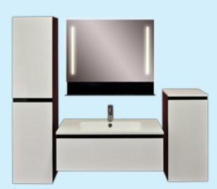Комплект мебели для ванной комнаты Astra-Form Альфа 70 см