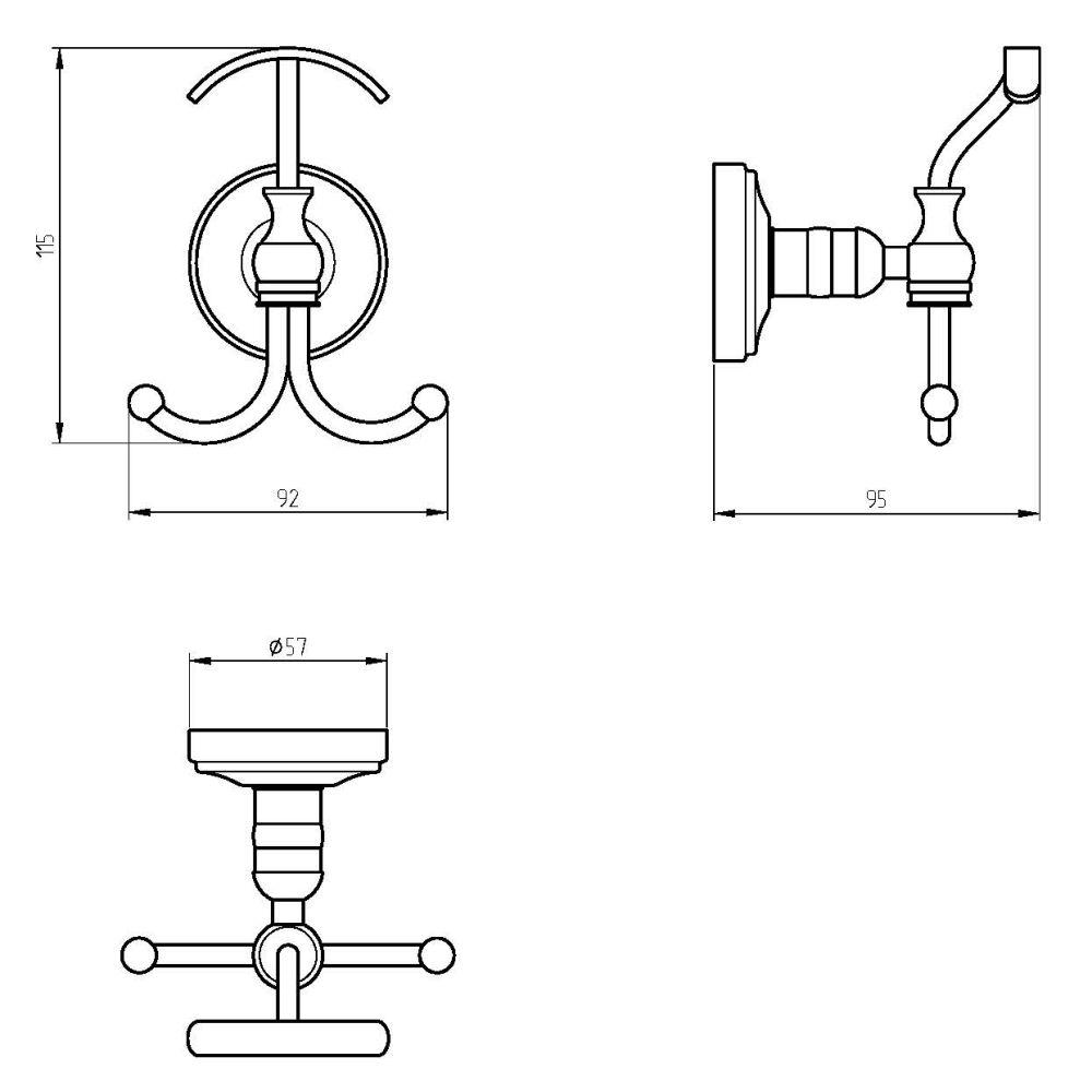 Крючок тройной Migliore Mirella ML.MRL-M032