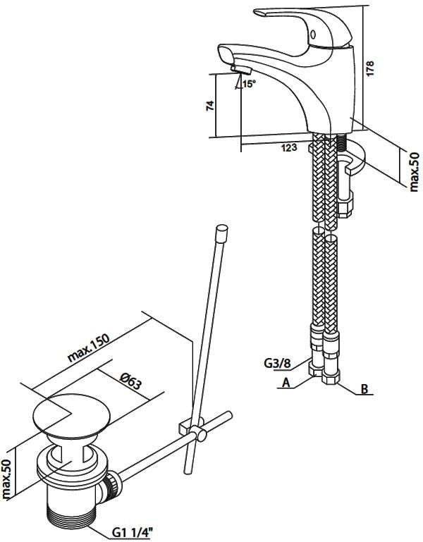 Смеситель Am.Pm Sense 5 F7582100 для раковины VSTV