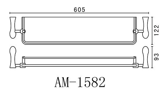 Полка стеклянная Art&Max Elegant AM-1582
