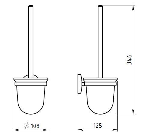 Ершик настенный для туалета Novaservis Novatorre 1 арт. 6133.0
