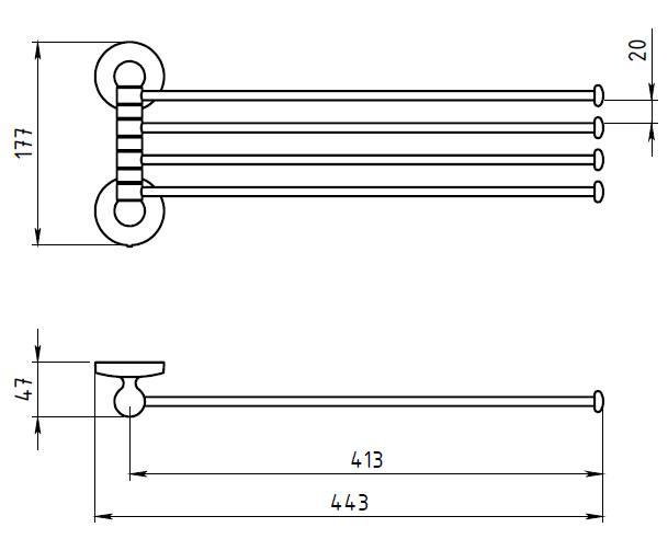 Полотенцедержатель поворотный Novaservis Novatorre 1 6146.0