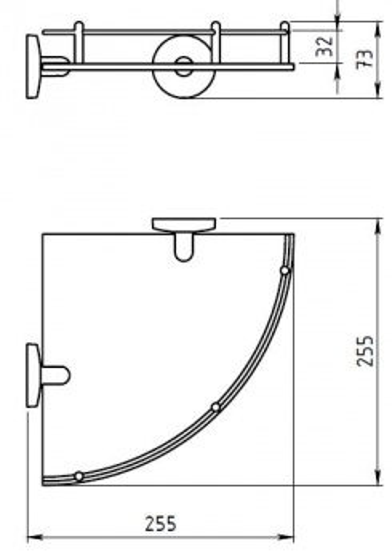 Полка угловая Novaservis Novatorre 1 6158.0