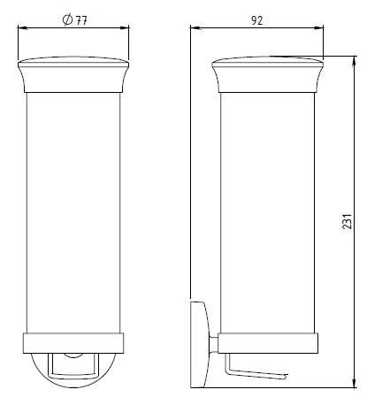 Контейнер для тампонов Novaservis Novatorre 1, арт. 6172.0, хром