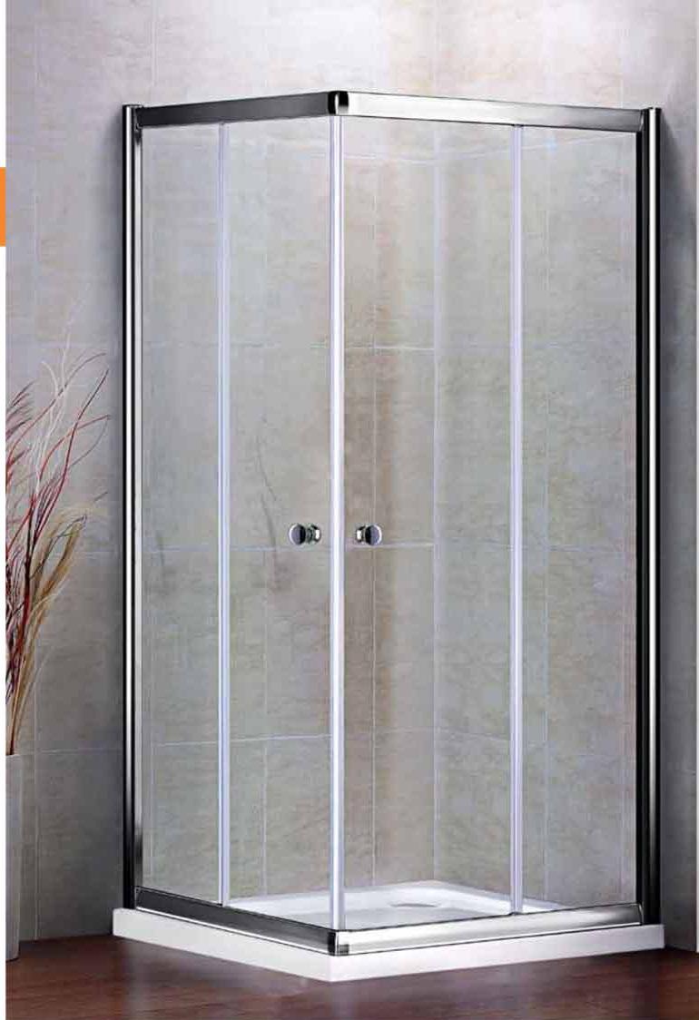 Душевой уголок Cezares арт. PRATICO-A-2-80-Cr, 80 х 80 х 185, стекло прозрачное/текстурное