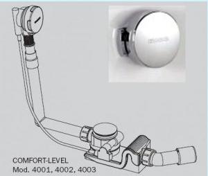 Слив-перелив Kaldewei Comfort-Level мод. 4002 арт. 6877.7051.0000 хром, удлинённый