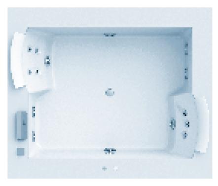 Ванна гидромассажная Jacuzzi AURO PLUS CORIAN, 185*155*h66 см