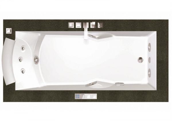 Ванна гидромассажная Jacuzzi AURA UNO 180*90*66 см, версия с отделкой из дерева