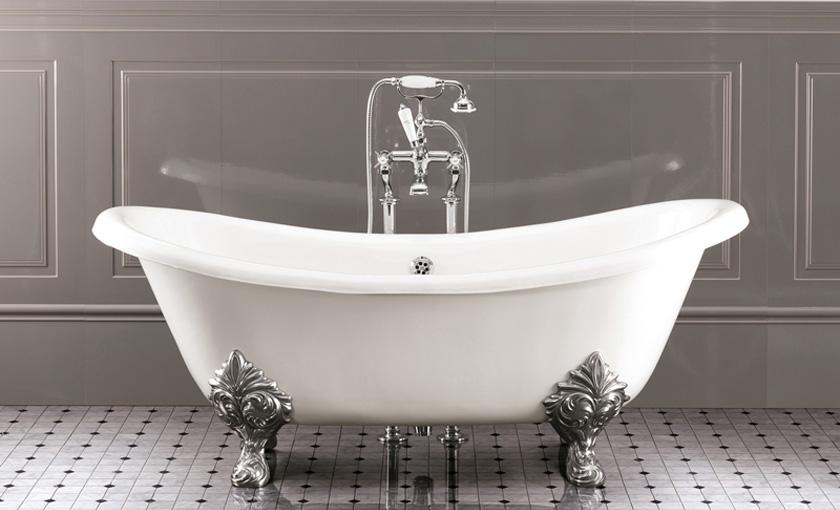 Чугунная ванна Devon&Devon Cherie (без отверстий) 2MRCHERIE, ножки Princess