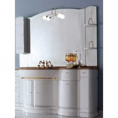 Комплект мебели Eurodesign Hilton New Композиция №1, Bianco/фурнитура золото/с мраморной столешницей Rosa Portogalo