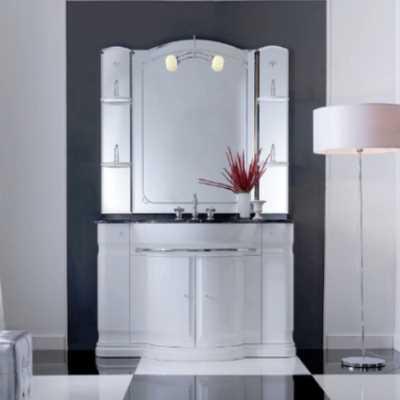 Комплект мебели Eurodesign Hilton New Композиция №1, Bianco/фурнитура хром/с мраморной столешницей Bianco Carrara