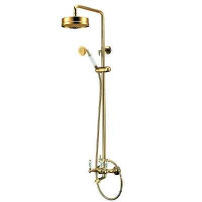 Душевая система Edelform Lumier, арт. LM2910G для ванны/душа cо стойкой, телескопическая