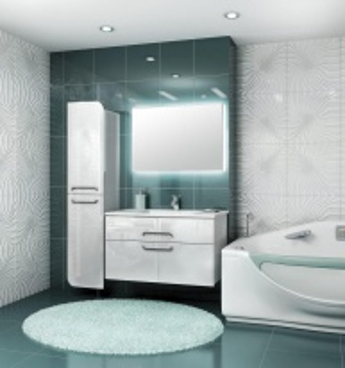 Комплект мебели для ванной Edelform Next 100, арт. Next/Некст 100
