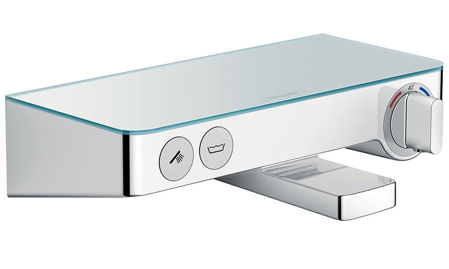 Смеситель Hansgrohe Ecostat Select 13151 для ванны с кнопками управления, термостатический, хром, 30 см