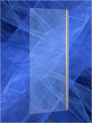 Перегородка Vagnerplast левосторонняя/правосторонняя шириной 100 см, арт. пер100 - Анодированный