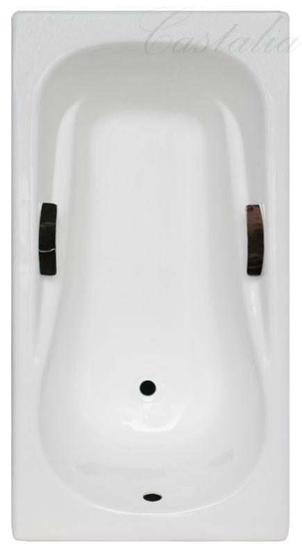 "Чугунная ванна Castalia ""REMI"" с ручками 150х75х42"