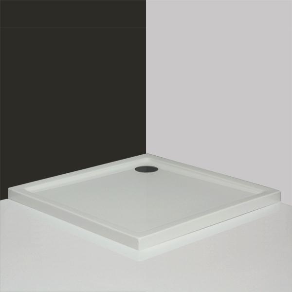 Душевой поддон Roltechnik Flat Kvadro арт. 8000120, акрил, 100*100*5 см