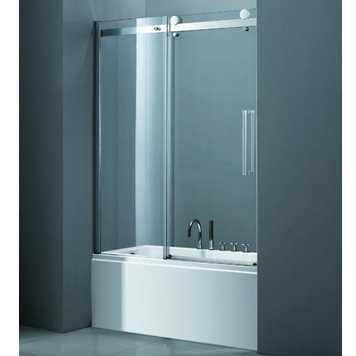 Шторка на ванну Cezares STYLUS-V-1-170/145-C-Cr, профиль-хром/стекло прозрачное