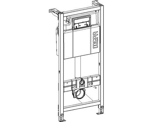 """Монтажный элемент Mepa VariVIT A31 514101, для подвесного унитаза, 120 см, в комплекте с крепежом """"Е"""" и клавишей SUN хром"""