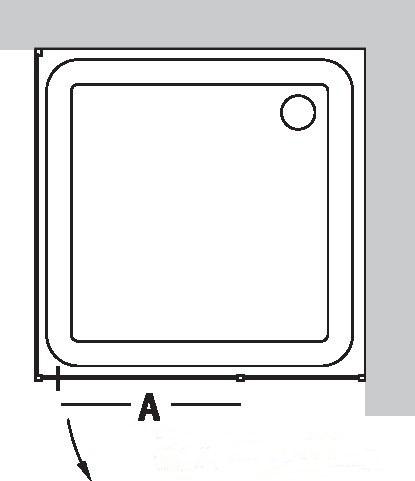 Душевой уголок Vegas Glass AFP-Fis 0100, квадратный, 100*100*190 см