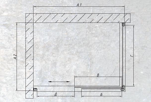 Душевой уголок Vegas ZP+ZPV 100*70, прямоугольный, 100*70*190 см
