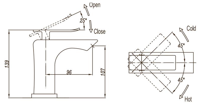 Смеситель для раковины BelBagno Ticino TIC-LVM-CRM