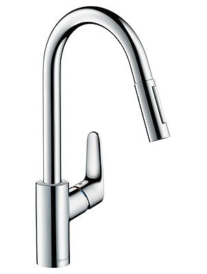 Смеситель Hansgrohe Focus 31815000 для кухни, выдвижной излив, хром
