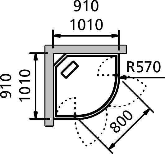 Душевая кабина INR Brik 4, 91*91 см