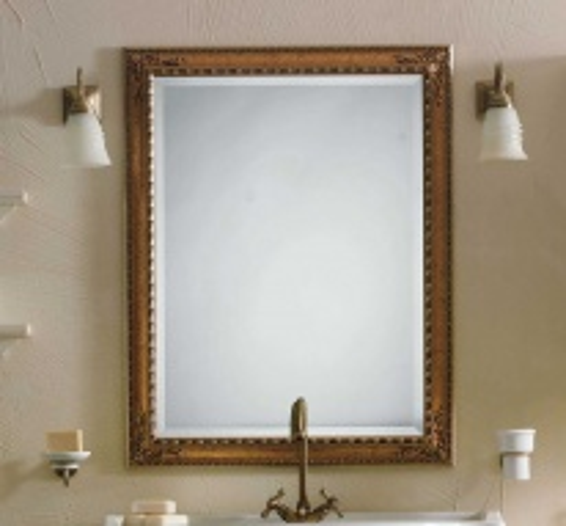 Зеркало Labor Legno Marriot в деревянной раме арт. MB 0/70 золото/серебро, 74*97*4 см