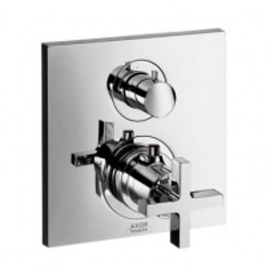 Смеситель с запорным и переключающим вентилем AXOR Citterio арт. 39725000 для ванны и душа, внешняя часть
