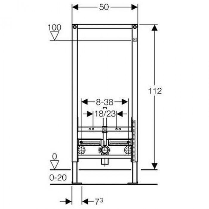 Монтажный элемент Geberit Duofix, арт. 111.510.00.1 для биде с запорными вентилями