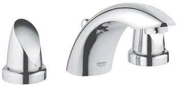 Смеситель Grohe Aria 20147 000 для раковины на три отверстия, керамические вентили