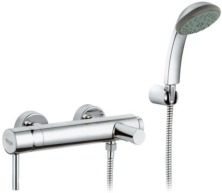 Смеситель Grohe Essence 33628 000 для ванны/душа с гарнитуром