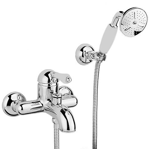Смеситель Nicolazzi P.M. Blanc 3401**76 для ванны/душа, ручка белая керамика