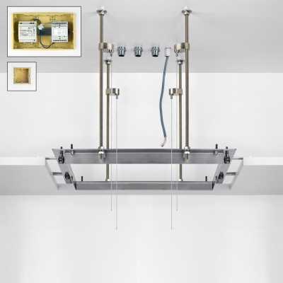Потолочный душ Gessi Private Welness Minimali арт. 32855/238 с подсветкой, внутренняя часть