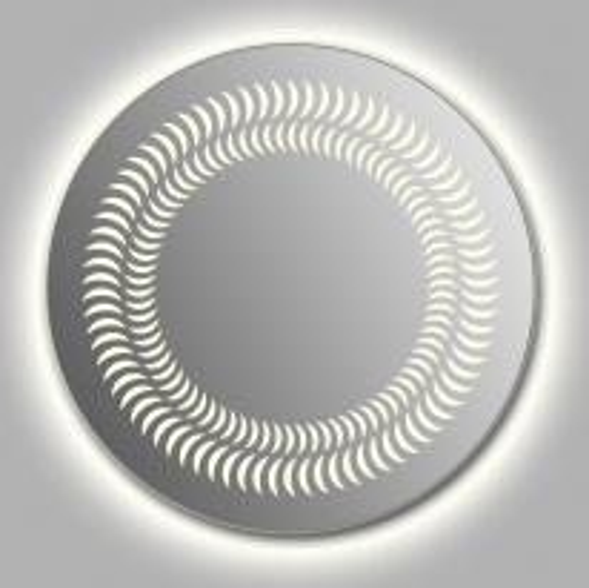 Зеркало Wenz Design D-luna-contour круглое / с контурной подсветкой