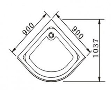 Душевой уголок Appollo арт. TS-623B 90*90*200 см