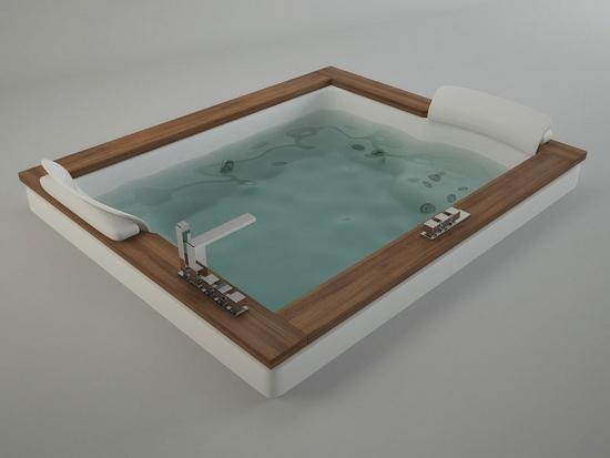 Ванна гидромассажная Jacuzzi AURA PLUS BASE 180*150 см, версия с отделкой из дерева